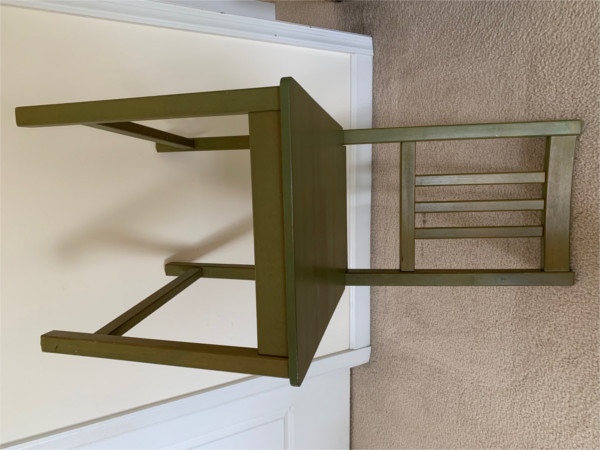Image of stiff-backed chair